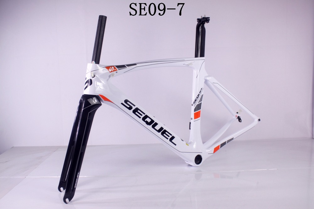 SEQUEL brand road bike carbon frame good quality and price clearance sale now UD/1K Toray T1100 quadro de bicicleta DIY painting цена