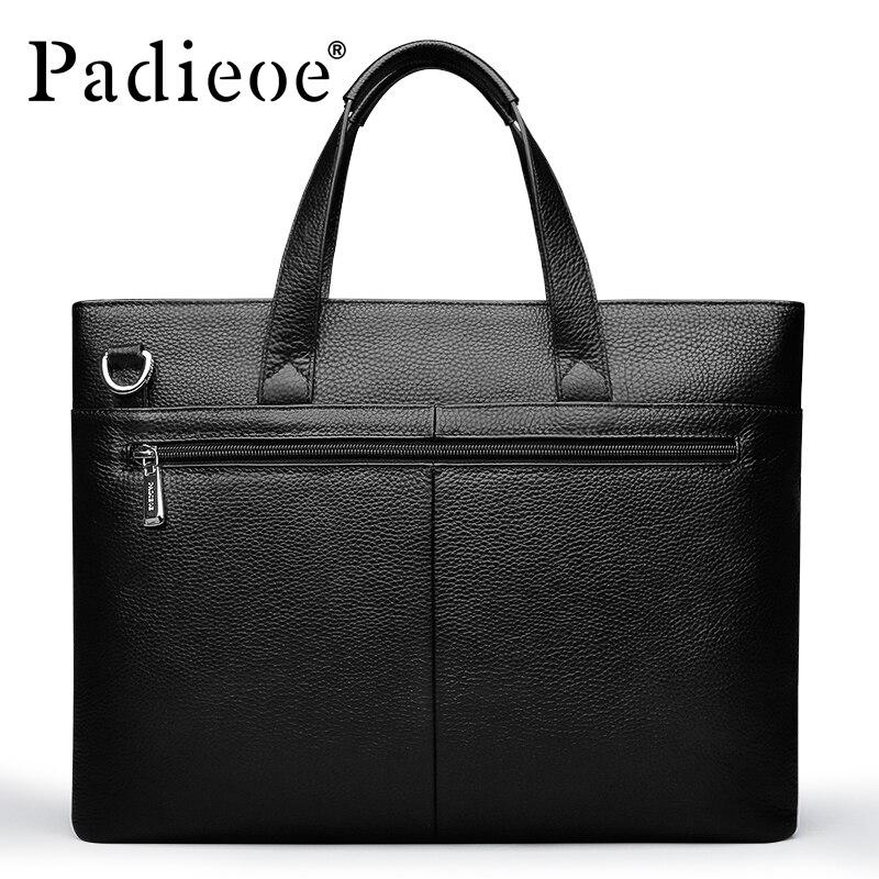 Portable D'affaires D'ordinateur De Nouvelle En Porte Arrivée Véritable Marque Mode Pour Padieoe documents Cuir Hommes Sac 2016 Luxe 0TOq41wx6