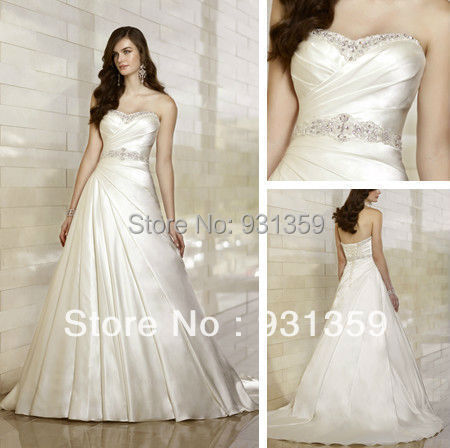 Free Shipping Top quality Western style wedding dresses with crystal ...
