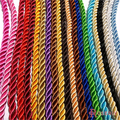 (29966)5mm Satin Polyester Cords Three strands of Rope Diy Jewelry Findings Accessories 5 Meters
