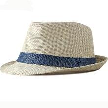цена на HT2378 Summer Women Men Fedoras Straw Hat Short Brim Trilby Panama Hats Men Straw Beach Sun Hats for Men Breathable Fedora Hat