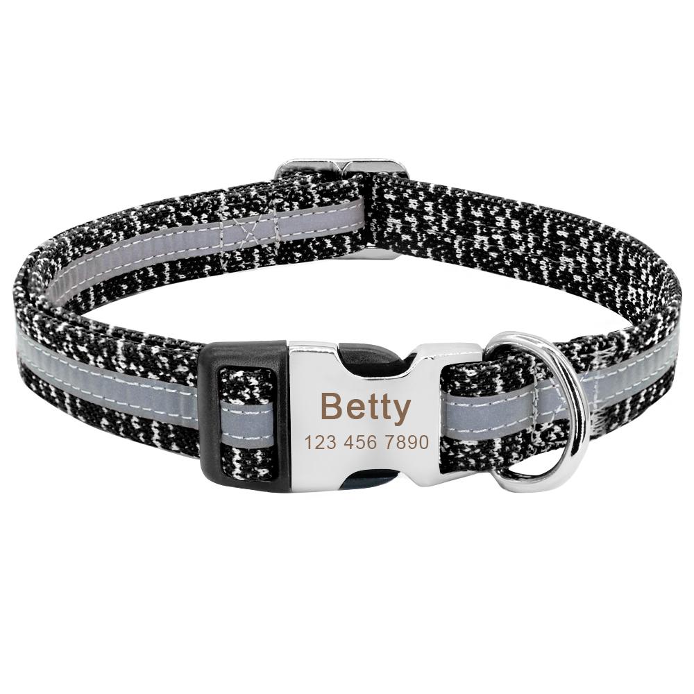 Collar de perro personalizado reflectante 9