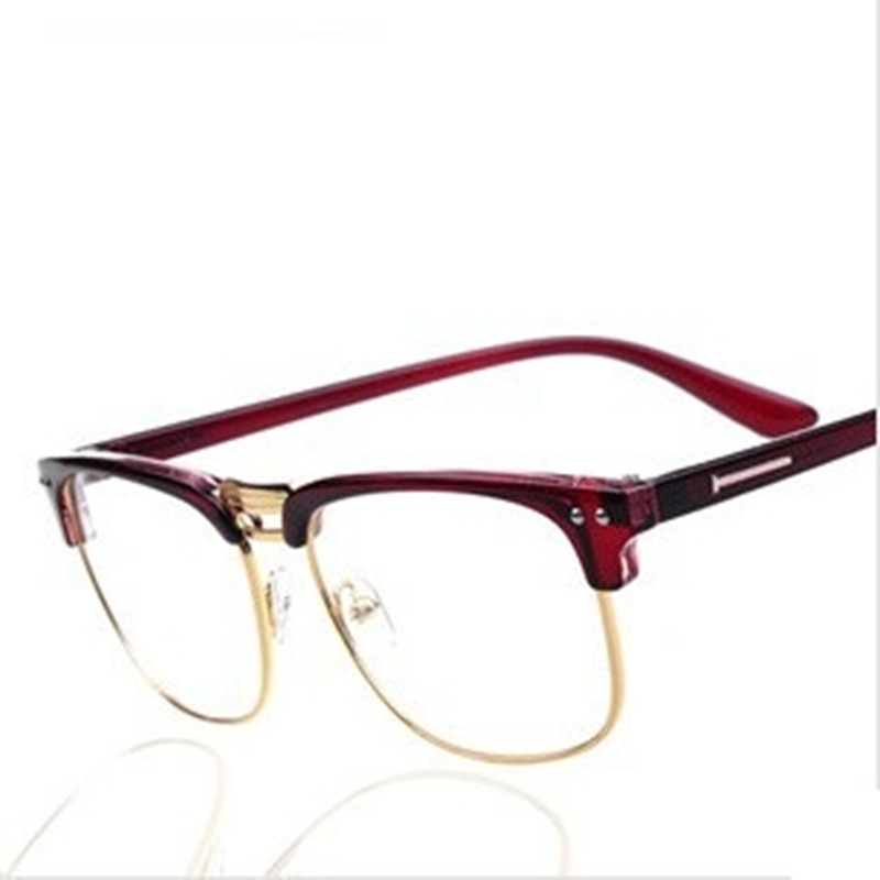 Women Men UV400 Boss Reading Glasses Brand British Jazz Retro Writing Spectacles Half Frame Adornment Glasses