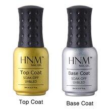 HNM 8 мл, грунтовка для ногтей, долговечная основа, топ, Набор лаков для ногтей, замачиваемый УФ-гель для ногтей, Полупостоянный Гель-лак