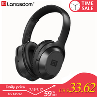 Langsdom BT25 Active Noise Cancelling Bluetooth Headphone 38 Hours Playtime ANC Wireless Headphones Bluetooth Headset for Phone