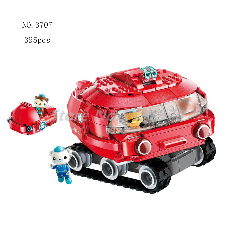 The Octonauts GUP X Launch and Rescue Vehicle dashi & Barnacles shellington kwazii Building Block Bricks Toys For Children Gifts