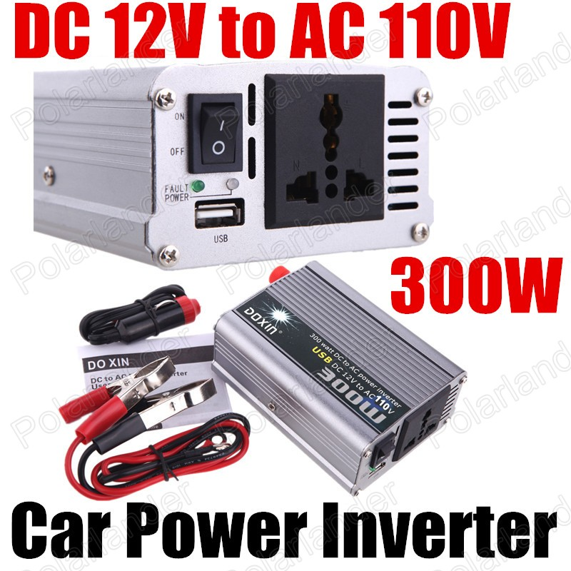 Car auto power inverter converter Modified Sine Wave car converter voltage transformer 300W DC12V to AC110V with USB