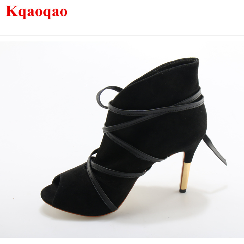 Shoes Woman Dames Schoenen Suede High Heels Pumps Peep Toe Cross Tied Singles Heeled Shoes Women Pumps Luxury Brand Runway Shoes enmayer cross tied shoes woman summer pumps plus size 35 46 sexy party wedding shoes high heels peep toe womens pumps shoe