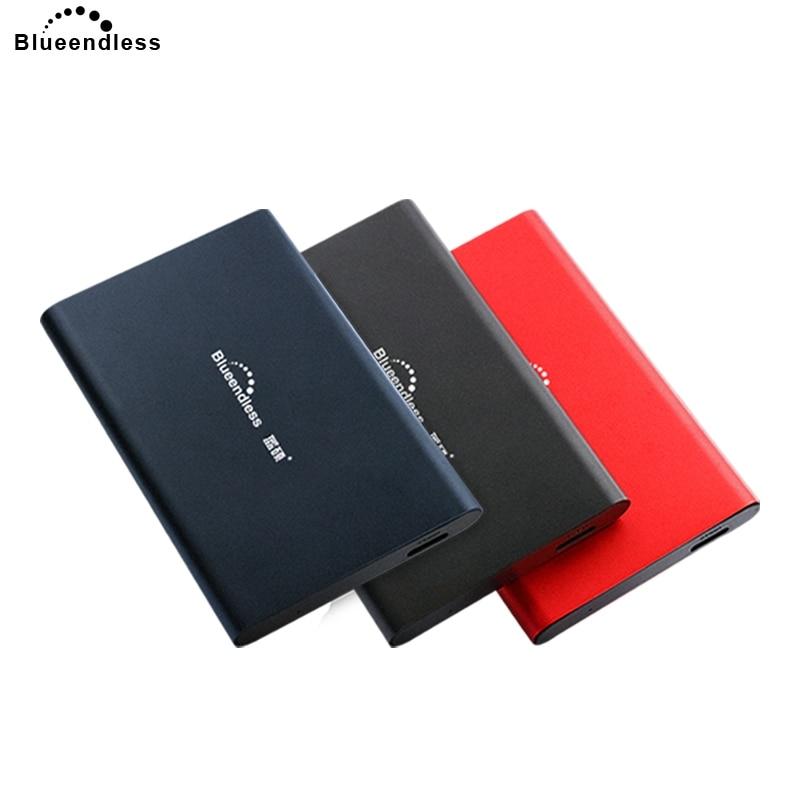 Blueendless 2018 disque dur externe HDD disque Aluminium 2.5 'SATA HDD USB 3.0 750 GB/500GBg disque dur SSD 1 to Hd Externo