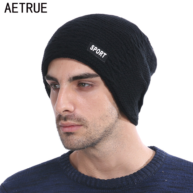Winter Skullies Beanies Knit Hat Winter Hats For Men Women Brand Beanie Men Warm Baggy Caps Cheap Gorras Bonnet Fashion Cap Hat winter casual cotton knit hats for women men baggy beanie hat crochet slouchy oversized ski cap warm skullies toucas gorros 448e
