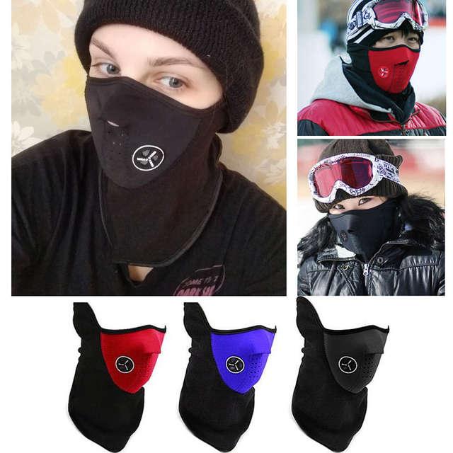 64c655fce53 Online Shop Winter Warm Fleece Balaclavas Ski Cycling Half Face Mask Cover  Outdoor Sport Windproof Neck Guard Scarf Headwear Warm Mask