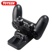 YOTEEN USB Dual Charge Dock for PS4 Controller Charger for Sony Playstation 4 Ps4 Charging Dock Gamepad Vertical Stand Holder