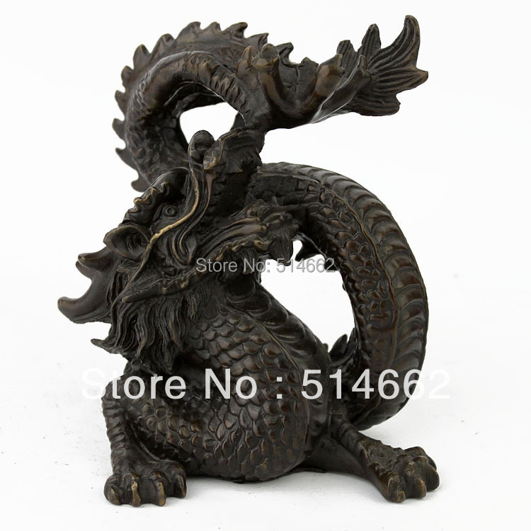 STATUES de Dragon en laiton FengShui/ANIMAL-DRAGON