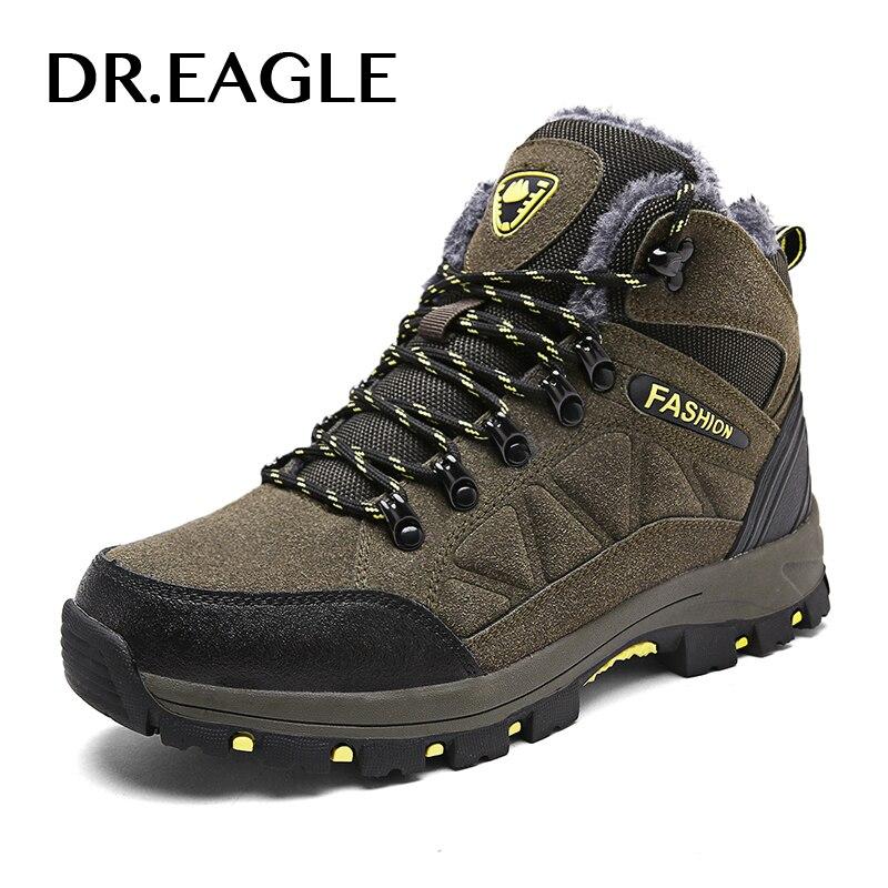 DR.EAGLE Outdoor men sneakers winter tactical boots mountain hiking shoes men waterproof TREKKING SHOES MAN sports shoes famous brand men s leather outdoor trekking hiking shoes sneakers for men sports climbing mountain shoes sneaker man senderismo