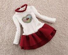 BibiCola New Fashion Girls Dress Winter Baby Girls Warm Dress Long Sleeve kids Girl Tutu Princess Dress Girls Christmas Clothing