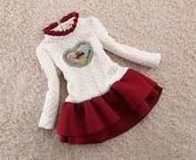 فستان جديد للفتيات من BibiCola فستان شتاء للأطفال البنات فستان دافئ بأكمام طويلة للأطفال البنات فستان توتو للأميرات ملابس الكريسماس للبنات