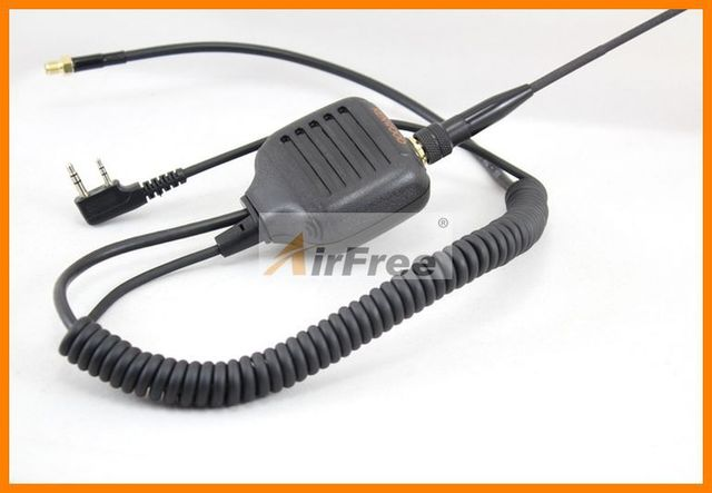 Handheld Speaker Microphone + Antenna SMA-F Adapter For Baofeng WOUXUN UV-5R BF888S kenwood