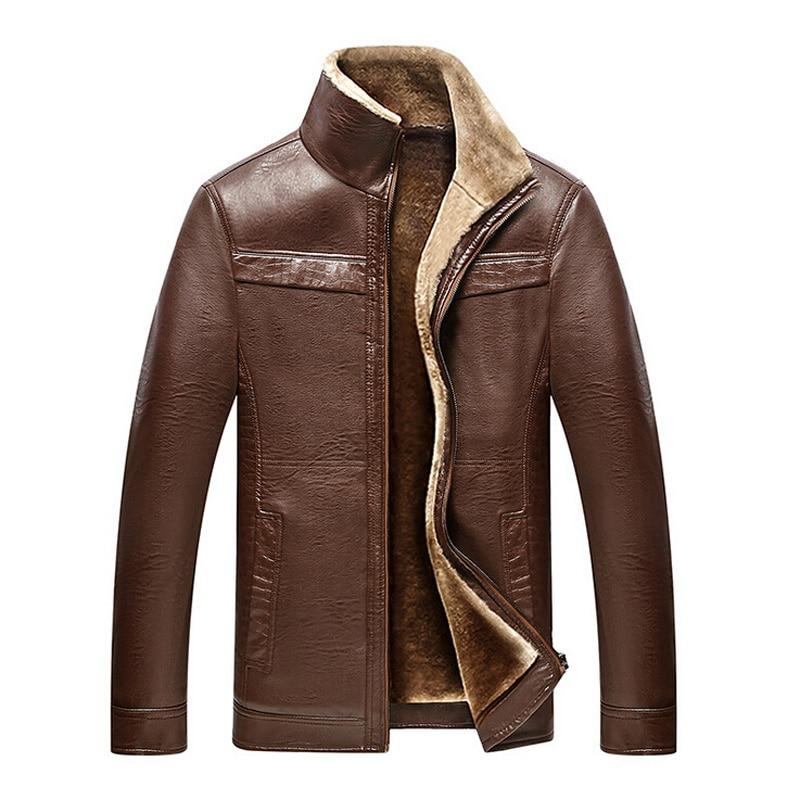 Men's winter coat Men casual thicken velet warm leather jackets mens jackets and coats winter down coat plus size 4XL parkas