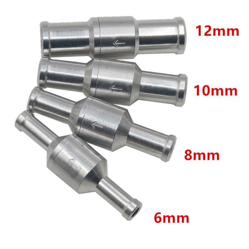 1 шт. 6/8/10/12 мм алюминиевый сплав топливный обратный клапан односторонний подходит для карбюратора