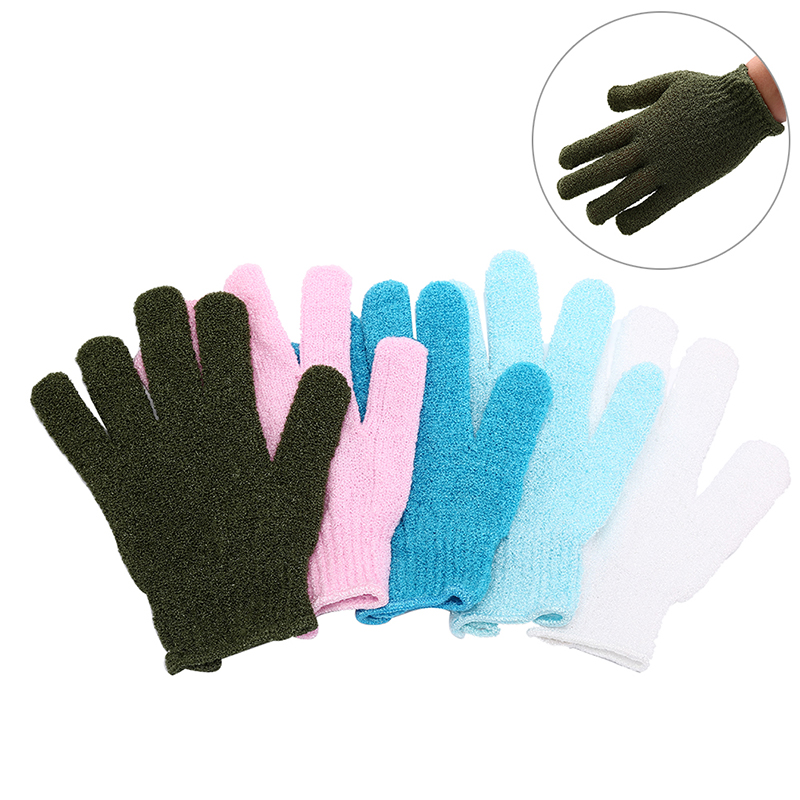 Massage Spa Bath MittShower Exfoliating Body Scrub Glove Dead Skin Removal Random Color