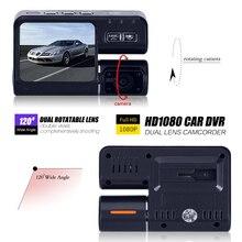 Buy Hot i1000 DVR Car Camera Full HD 1080P Dual Lens Dash Cam Video Recorder 2 Camera Night Vision Car DVR Camcorder H.264