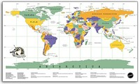 1 pc Deluxe Erase Travel Map wall decor Personalized World Scratch Map 88 x 52cm Scratch Off Foil Layer Coating Poster