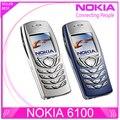 Оригинальный NOKIA 6100 Мобильный Сотовый Телефон Unlocked GSM в Трех Диапазонах Восстановленное 6100 Сотовый Телефон Дешевый Телефон бесплатная доставка