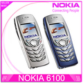 Original nokia 6100 teléfono celular móvil gsm desbloqueado tribanda restaurado 6100 teléfono móvil teléfono barato del envío libre