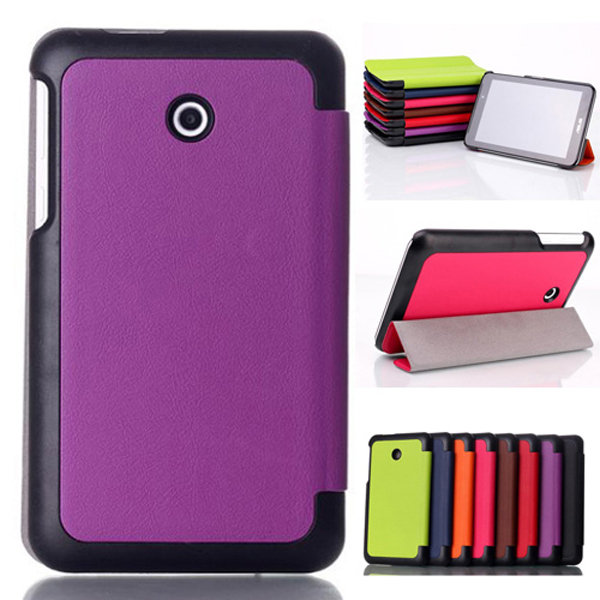 New Ultra Slim Custer Pattern Magnetic Folio Stand Leather Case Smart Cover For Asus