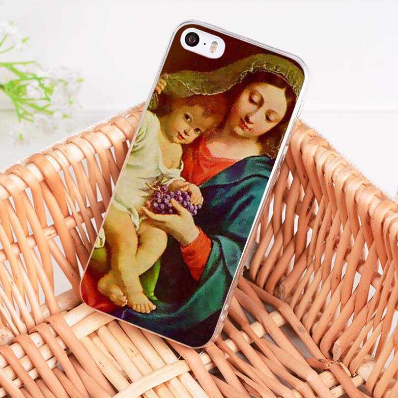 MaiYaCa Maagd Maria Christian Kerst soft tpu phone case cover voor iPhone 8 7 6S Plus X XS MAX XR 5S SE 11pro max case Coque