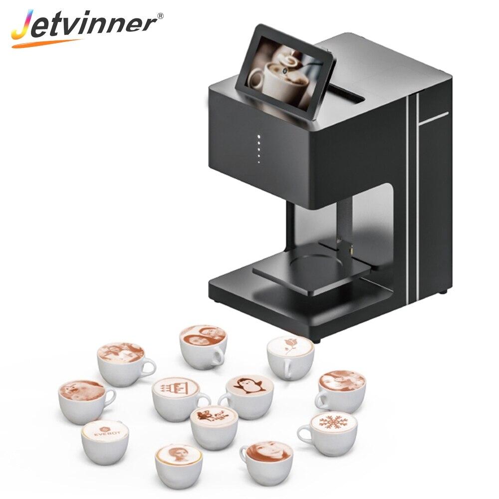 Jetvinner Café Imprimante Selfie Imprimer Machine Sans Fil Avec Encre Comestible pour Café Latte Cookies Chocolat Biscuits Pain Jus