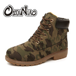 Men Boots Fashion Martin Boots Motorcycle Working Snow Boots Outdoor Casual Camouflage Timber Boots Lover Autumn Winter Shoes