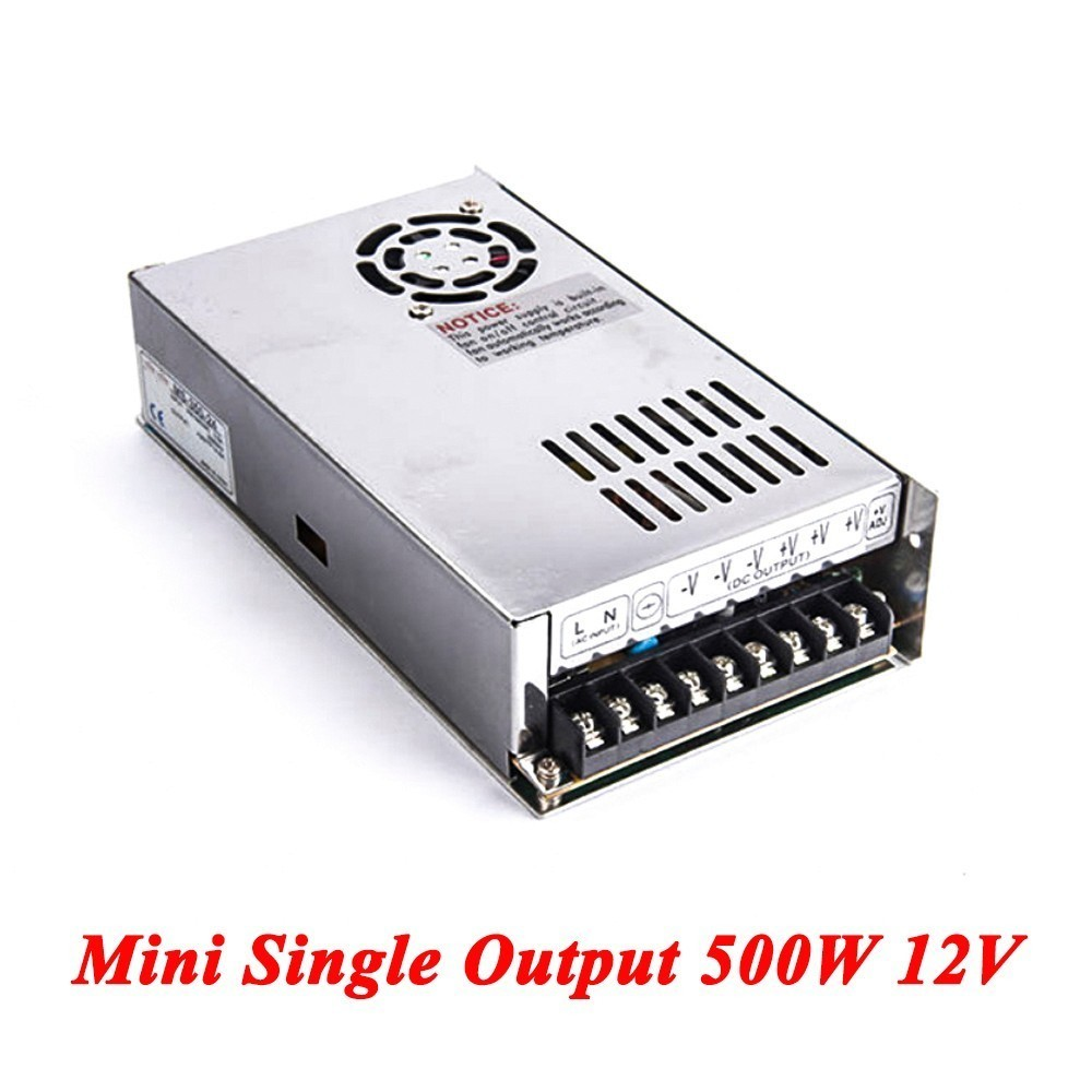 Mini Switching Power Supply,500W 12v 41.6A Single Output Ac-dc Power Supply For Led Strip,AC110V/220V Transformer To DC 5V 201w led switching power supply 85 265ac input 40a 16 5a 8 3a 4 2a for led strip light power suply 5v 12v output
