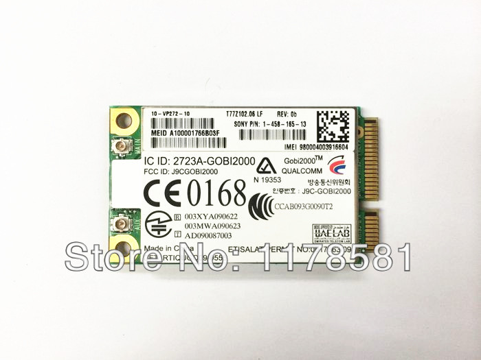 Sierra Wireless Gobi2000 3G Mini PCI-E Card For DELL ASUS TOSHIBA ACER SONY