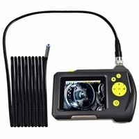 Handheld Digital Inspection Camera System 8.2mm Digital Waterproof Endoscope with 2.7 inch Screen Monitor 5 Meter Cable 6 LED
