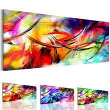 Современная красочная Картина на холсте линии граффити настенные