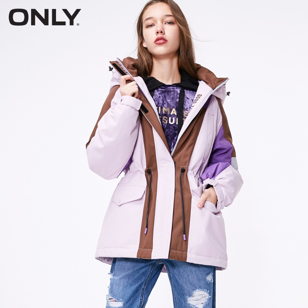 ONLY  Women's Medium Style Loose Fit Down Jacket |118312598