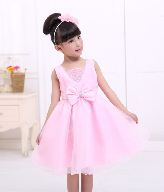 38e2ebbc1c Cute pink dress casual clothing child little girl princess dress tutu dress  cake style