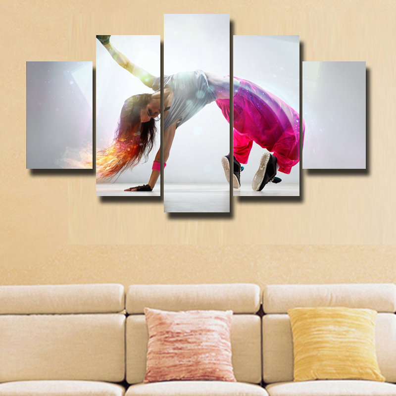 5 Pcs/Set Wall Art Painting Theme yoga girl Canvas Print Art Wall ...