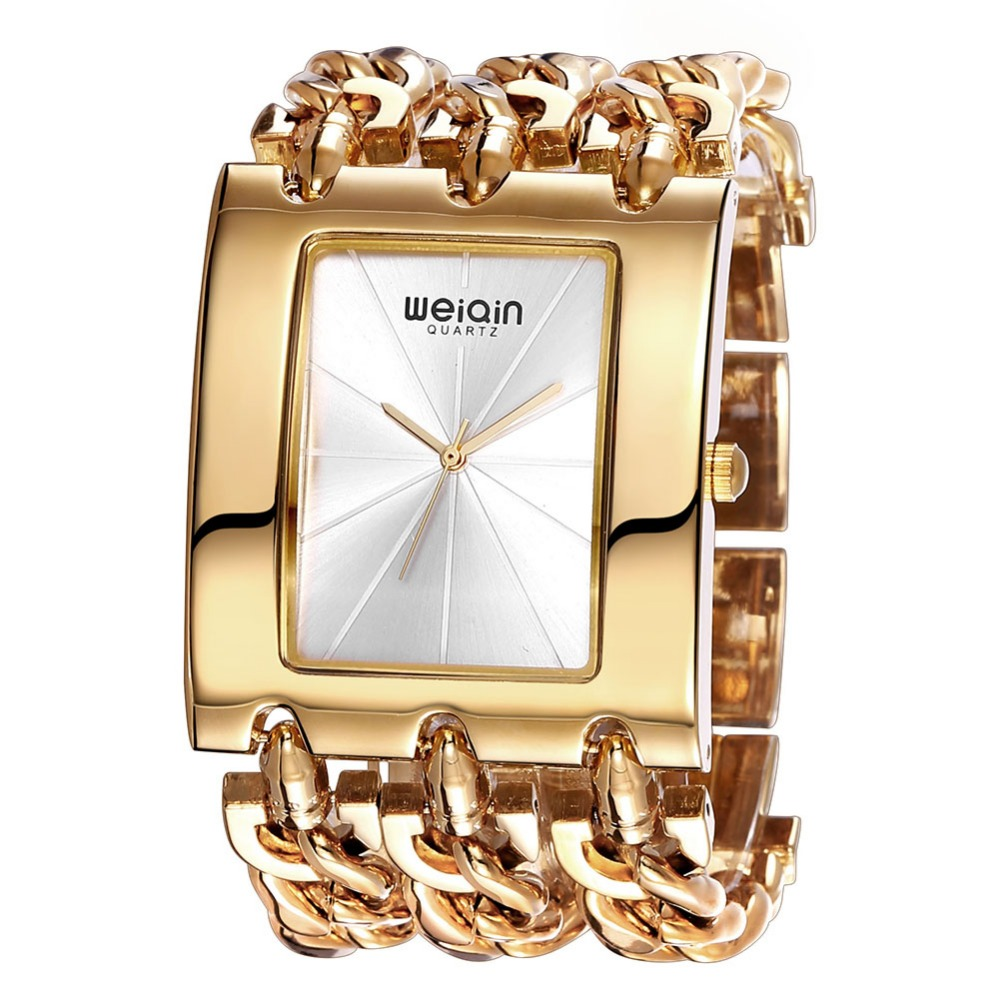 WEIQIN Luxury Brand Gold Women s Bracelet Watches Lady Waterproof Fashion Bangle Dress Watch Woman Clock