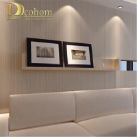Modern Minimalist Style Wall Paper Striped Solid Color Non Woven Wallpaper Living Room Tv Sofa