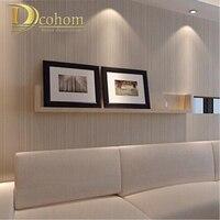 נייר קיר בסגנון מודרני מינימליסטי פסים משלוח מוצק צבע רקע ספת טלוויזיה בסלון טפט Wallcovering לא ארוג R521