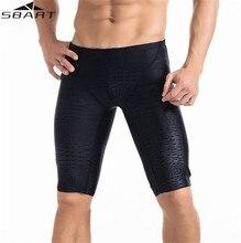 2017 NEW SBART Brand Professional Men Competitive Swim Trunks Shark Skin Swimwear Short Bathing Suits Size L-5XL