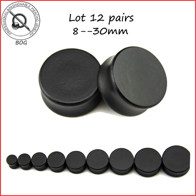 Exelent gauge size 12 picture collection everything you need to bog lot 12 pairs black solid natural wood ear plugs tunnel asfbconference2016 Images