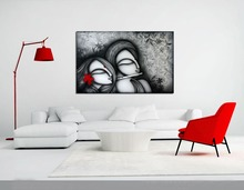 High Handmade Calligraphy Modern Abstract Indian Hang Canvas Picture Hand Painted Wall Artwork Hindu Deity Ganesh Oil Painting