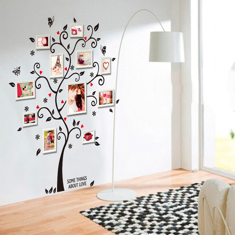 Aliexpress.com : Buy Room Photo Frame Decoration Family Tree Wall Decal  Sticker Poster On A Wall Stickers Tree Wallpaper Kids Photoframe Art From  Reliable ...