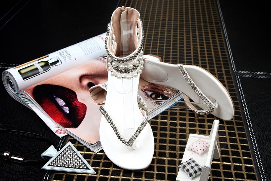 Showed flop Sandales Flip Chaussures De Cristal Strass Color Color Femmes Remise D'été Plage Sandale Appartements orteil Vêtements Gladiateur as As Bâton Clip rCBoWdex