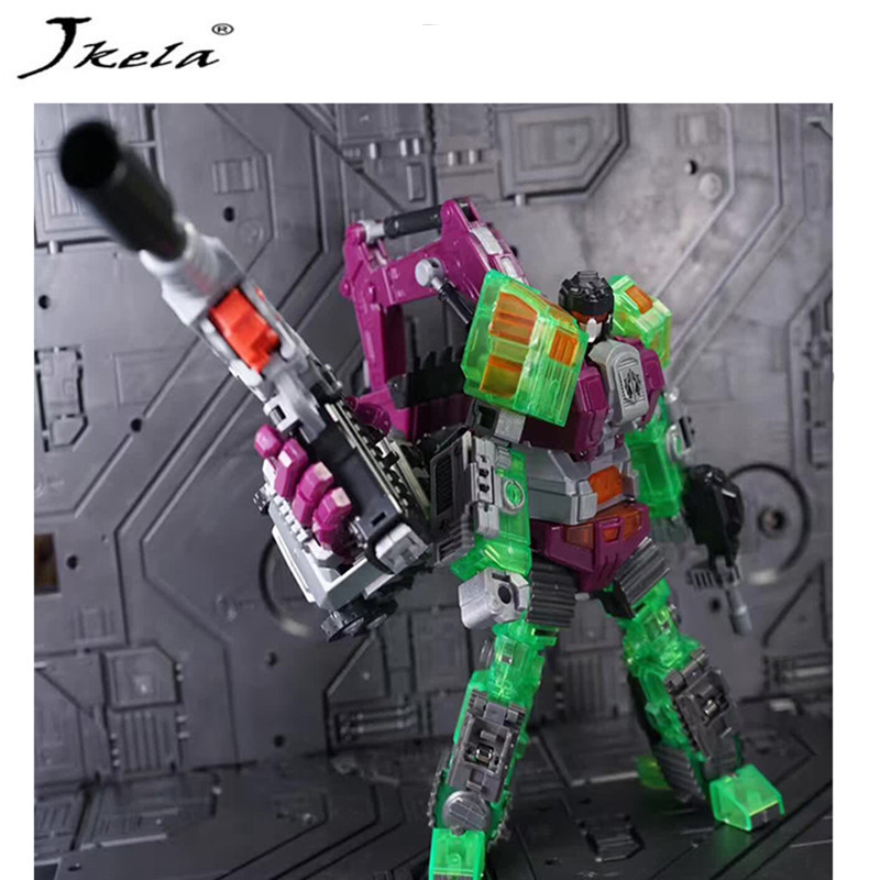 [Jkela] IN-STOCK Transformation Robot Ko Version Gt Scraper Of Devastator Right Thigh Action Figure Model Toys Outdoor Beach transformation robot the last night age of extinction deluxe class figure dark guard exclusive collectible toys