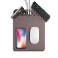 Multifunction QI Wireless Charging Mousepad Mouse Pad Phone Holder Stand Chargers For IPhone X 8Plus For
