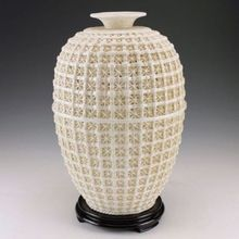 Oriental Vintage Dehua Porcelain Handwork Rare Vase